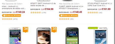 8 móviles con Android 4 libres por menos 170 €
