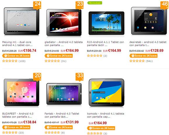 7 tablets Android por menos de 170€