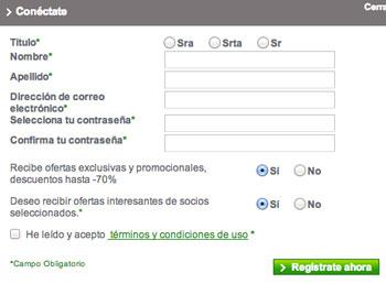 Photobox formulario registro